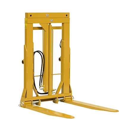 Hydraulic load clamp with extralifting