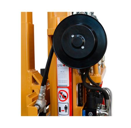 Prédisposition hydraulique avec enrouleur