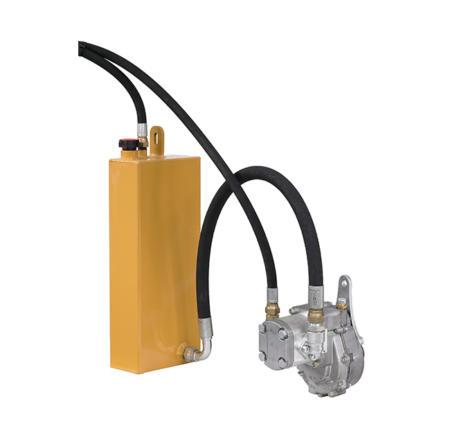 Centrale hydraulique fixe avec pompe multiplicateur réservoir et tuyaux